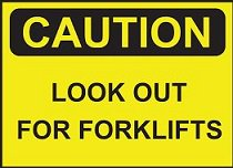 Safety guide for people working near forklifts